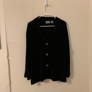 Chico's Travelers Black Blazer/Pantsuit Size 2